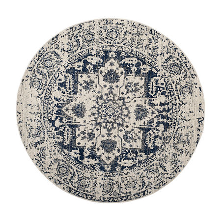 Safavieh Madison Collection Alene Oriental Round Area Rug, One Size , Multiple Colors