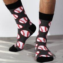 Maenner Socken mit Baseball Muster