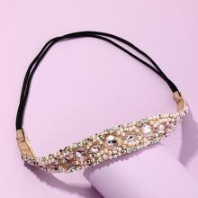 Haarband mit Kunstperlen & Strass Dekor