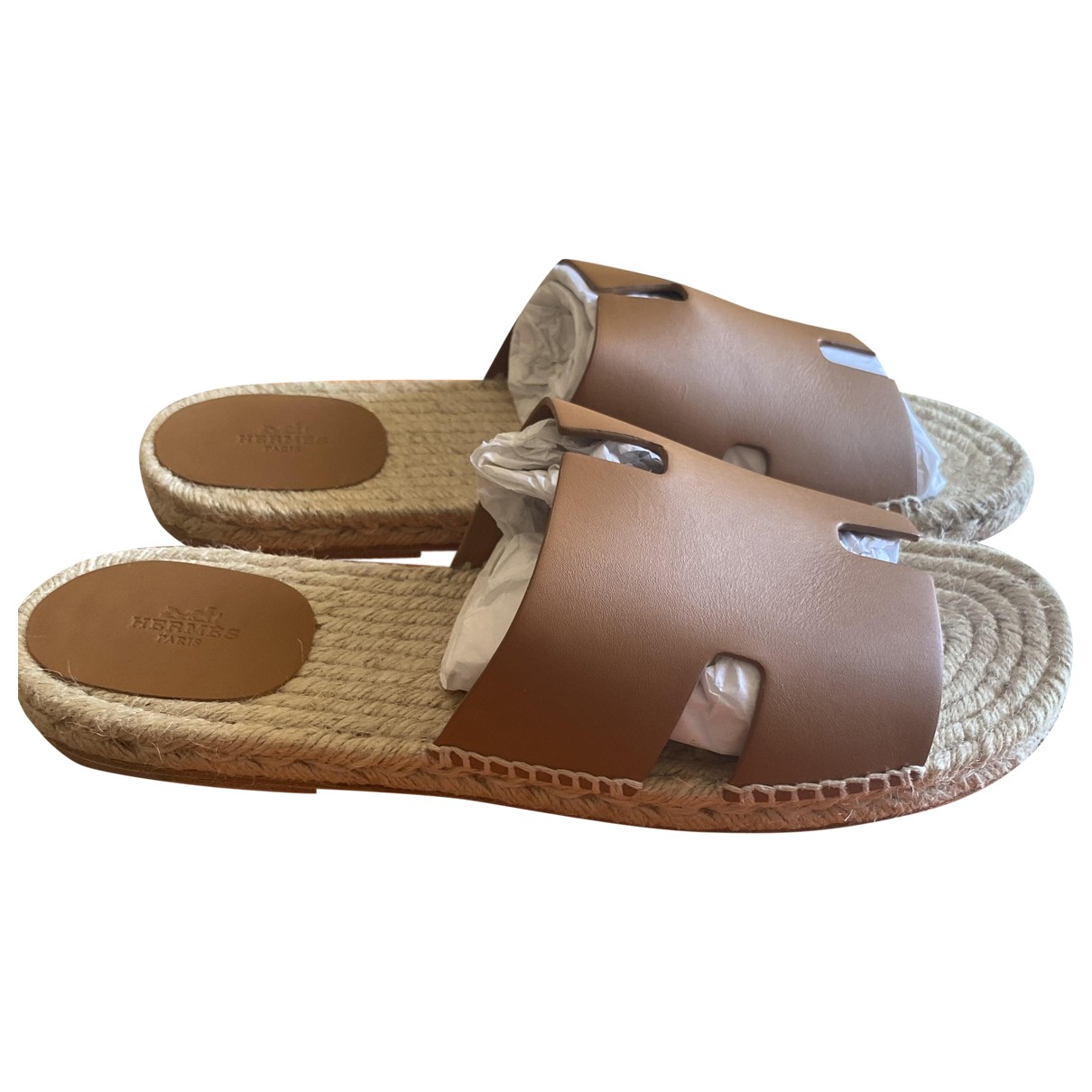 Hermès Izmir Brown Leather Sandals for Men 46 IT