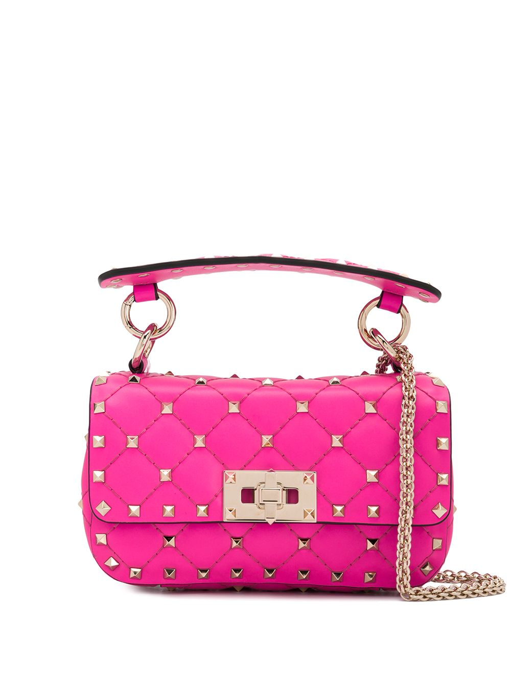 Spike Mini Leather Shoulder Bag