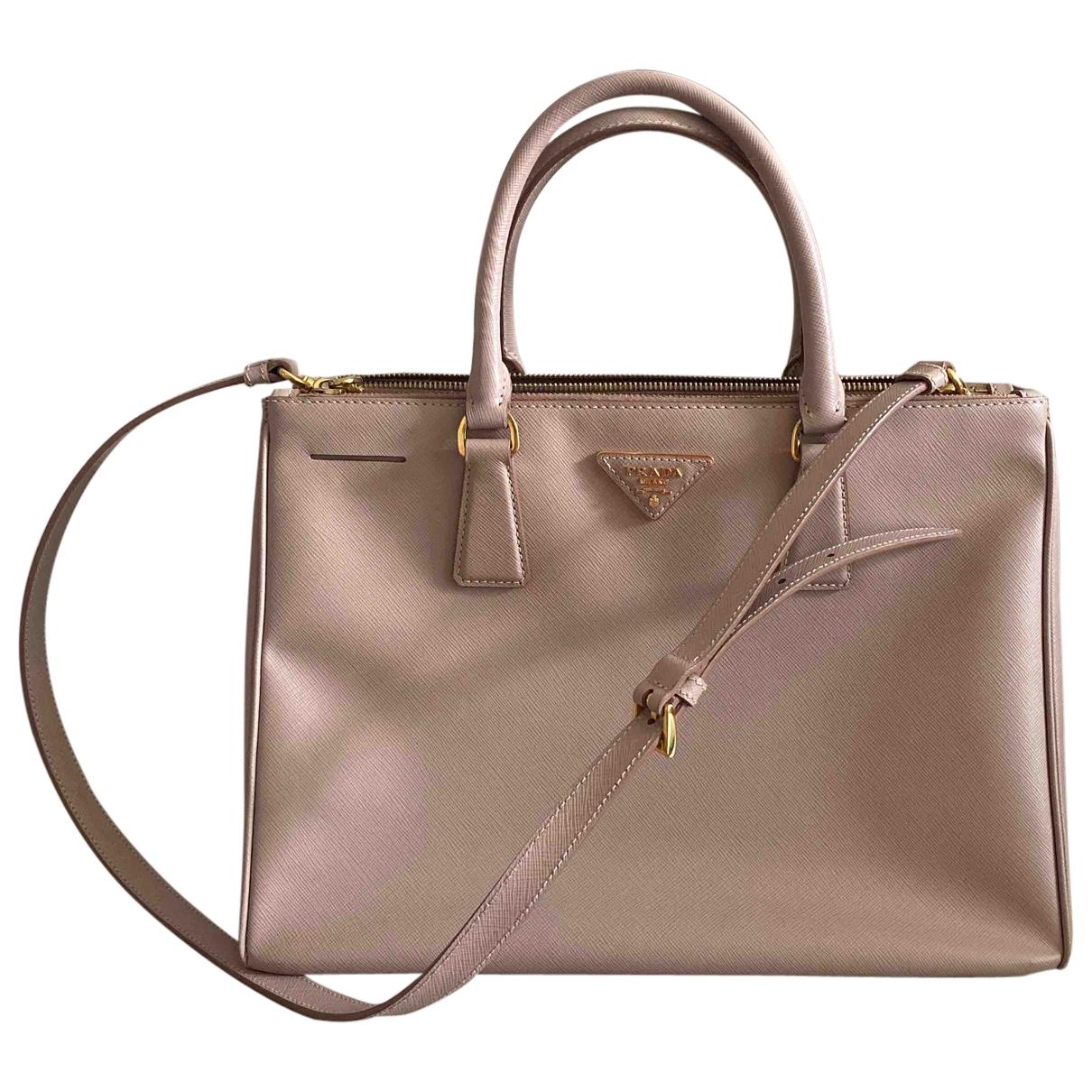 Prada - Sac a main Galleria pour femme en cuir - rose