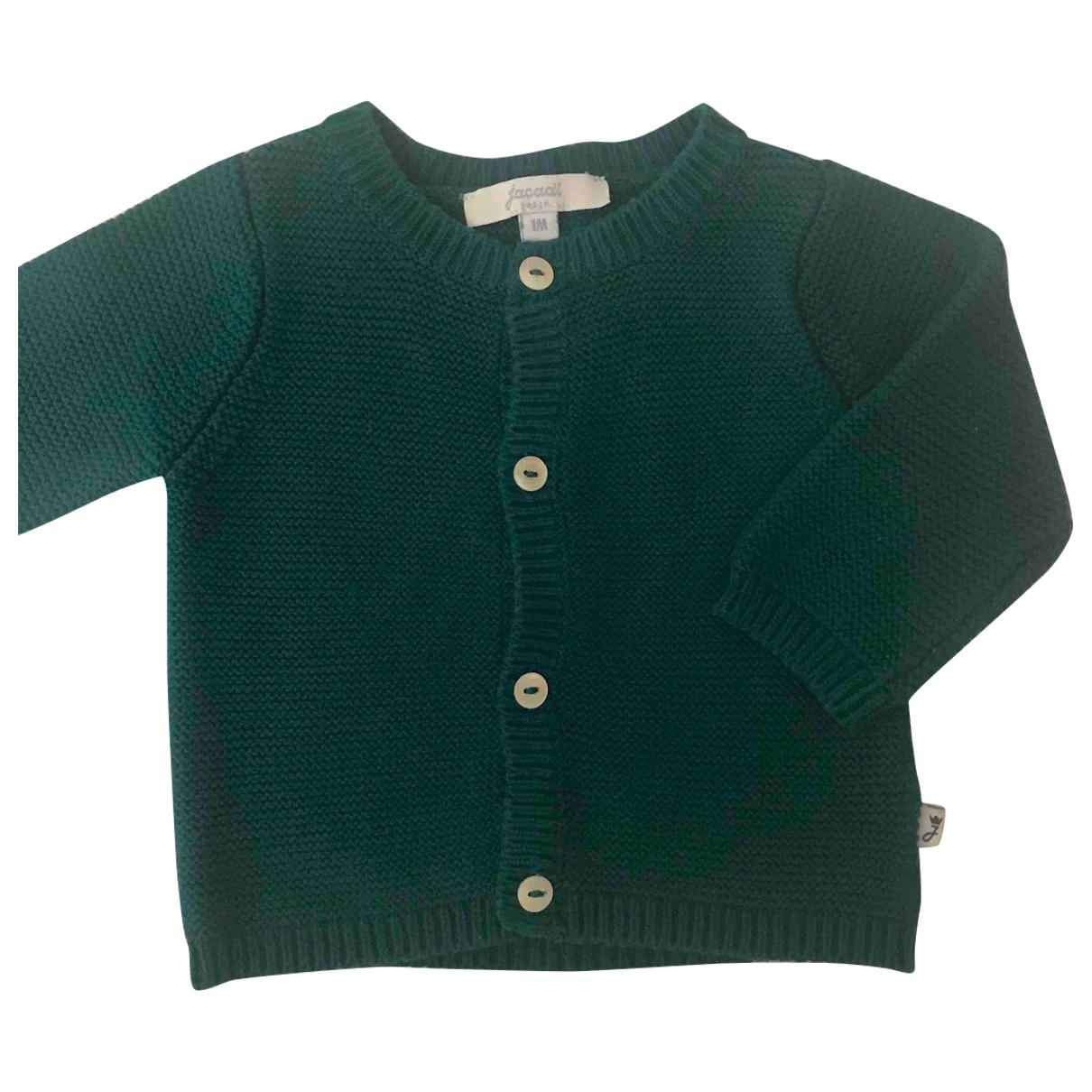 Jacadi - Pull   pour enfant en coton - vert
