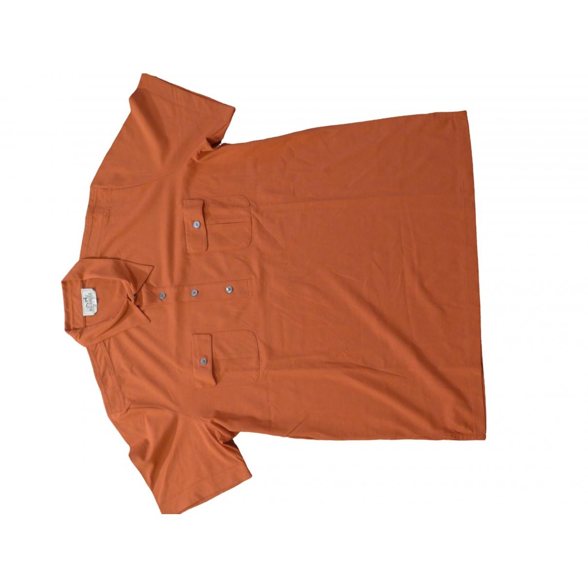 Hermes \N T-Shirts in  Orange Baumwolle
