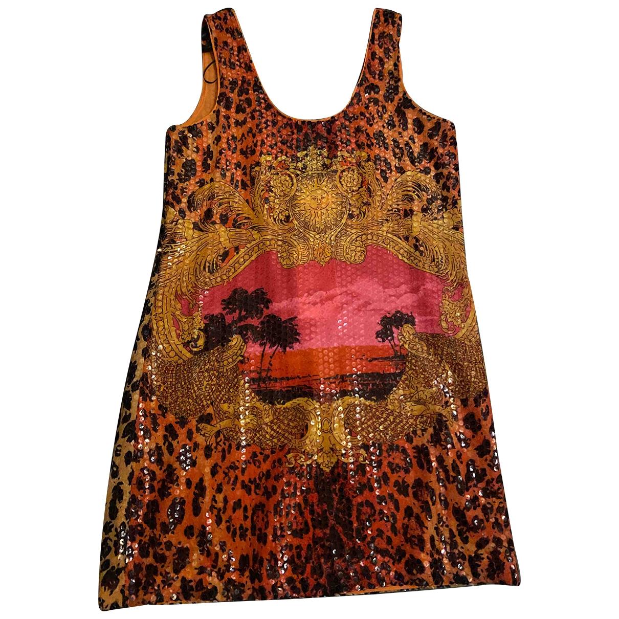 Versace X H&m - Robe   pour femme en a paillettes - orange