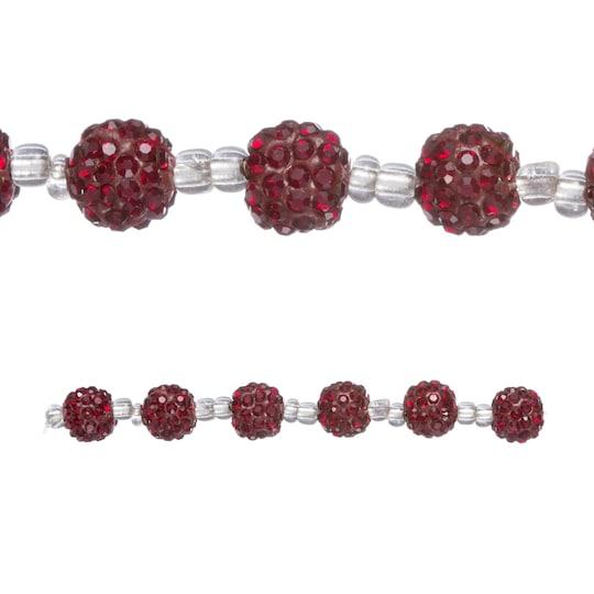 Dark Red Clay Pavé Rondel Beads, 10Mm By Bead Landing™ | Michaels®
