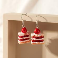 Cake Charm Drop Earrings