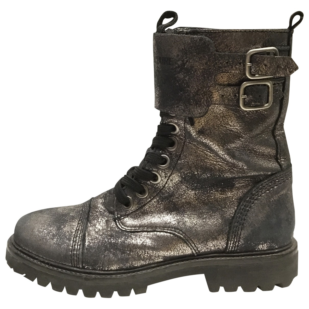 Zadig & Voltaire Joe Black Glitter Boots for Women 37 EU