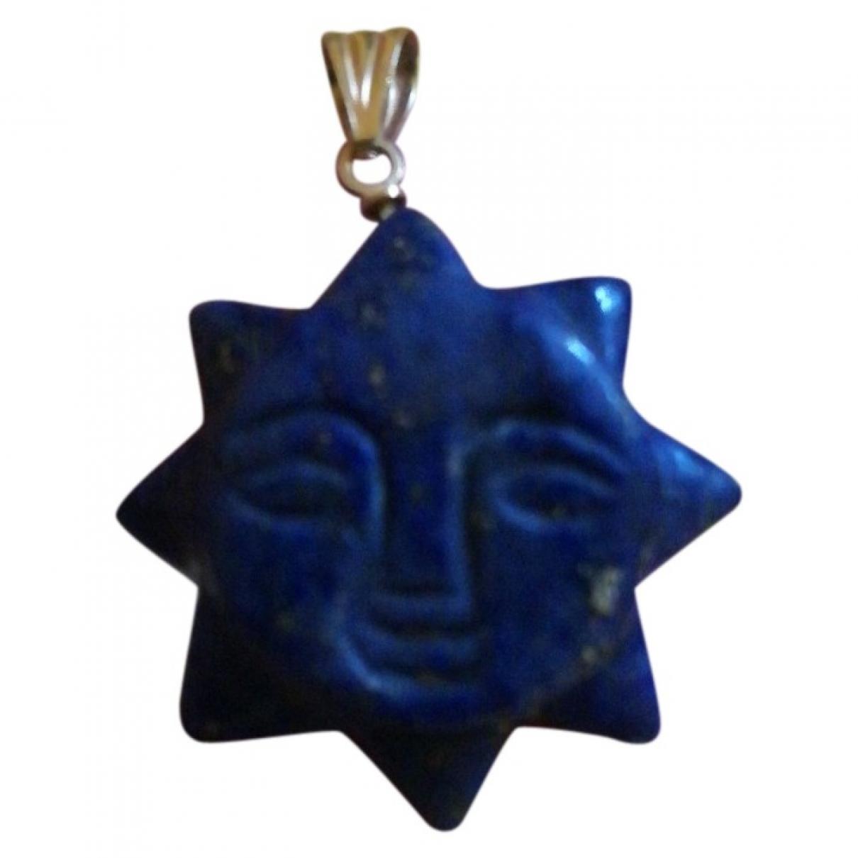 - Pendentif Motifs Ethniques pour femme en metal - bleu