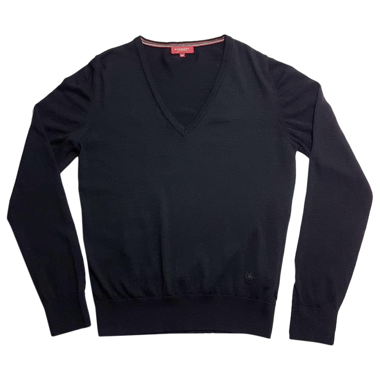Burberry - Pull   pour femme en laine - noir