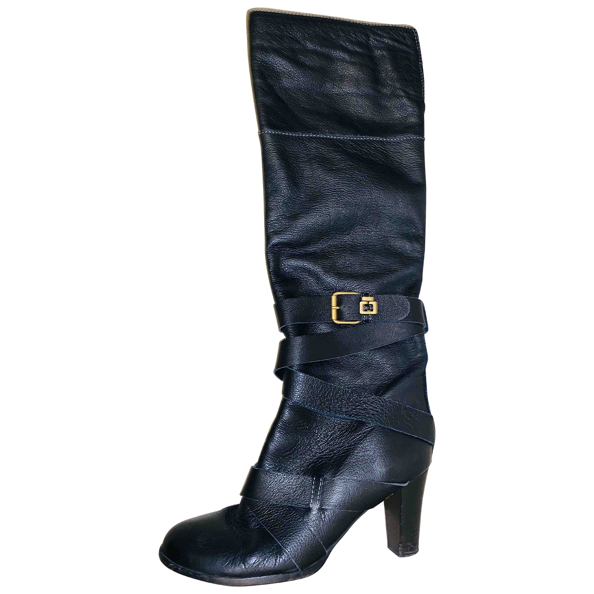 Chloé \N Black Leather Boots for Women 40.5 EU
