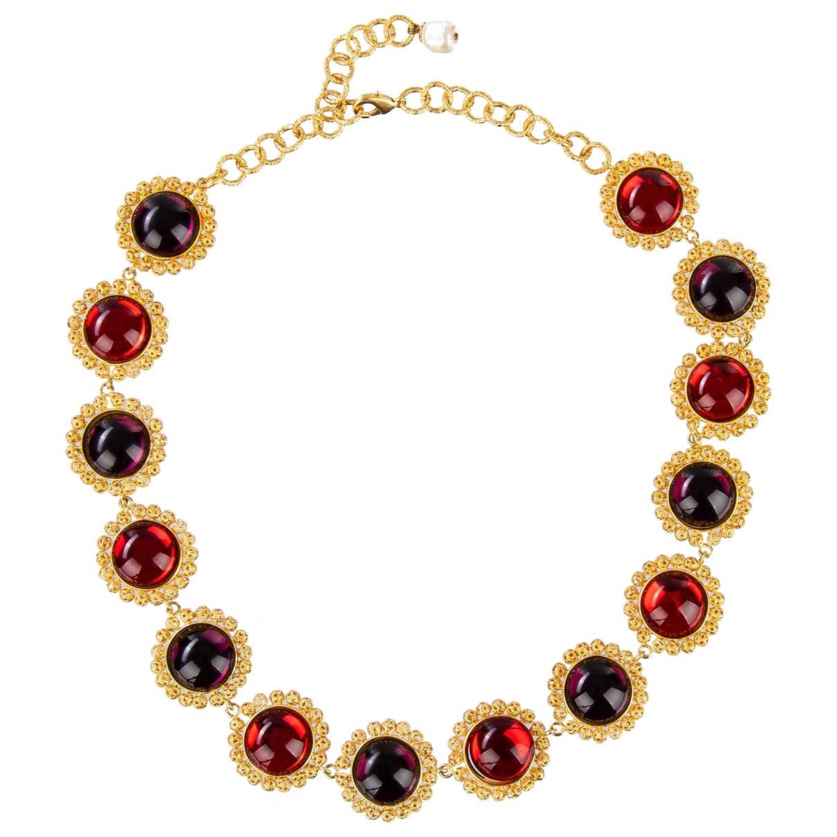Dolce & Gabbana - Collier   pour femme en metal - rouge