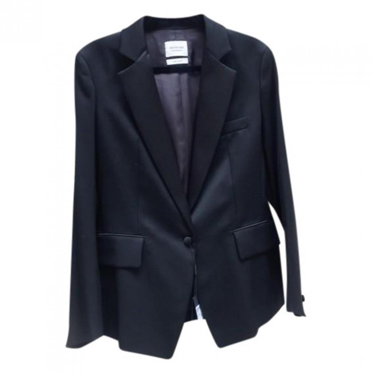 Saint Laurent \N Black Wool jacket for Women 40 FR