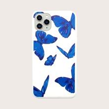 1 pieza funda de iphone con estampado de mariposa