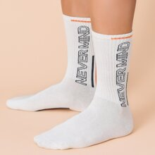 Guys Letter Graphic Socks
