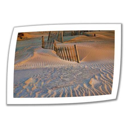 Brushstone Dune Patterns II Canvas Poster Wall Art, One Size , White