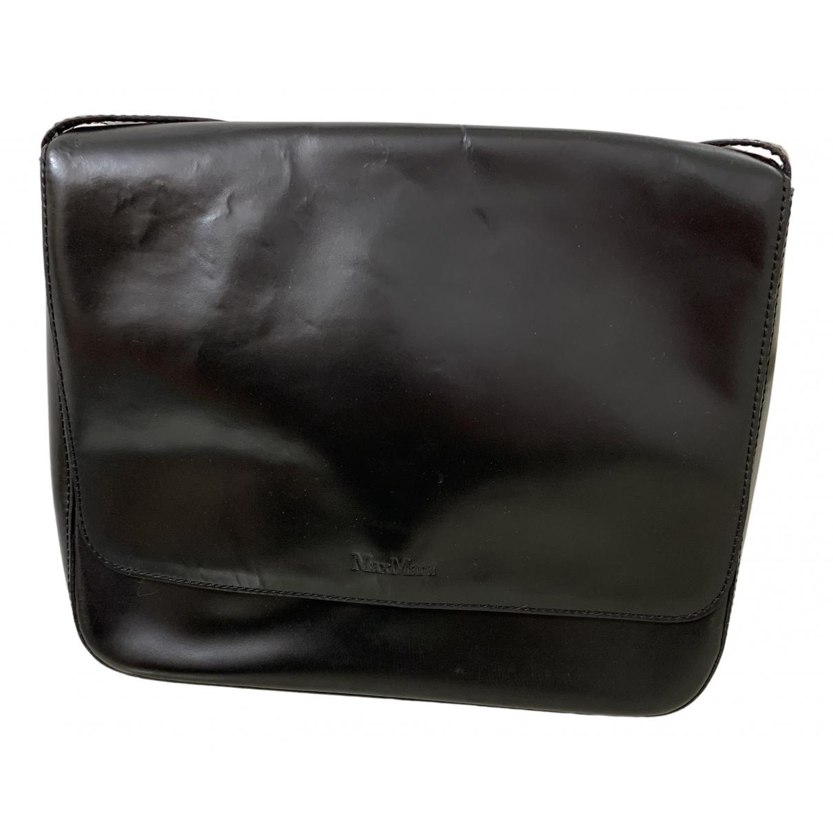 Max Mara - Sac a main   pour femme en cuir - noir