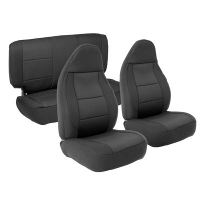 Smittybilt Neoprene Front and Rear Seat Cover Kit (Black/Black) - 471301